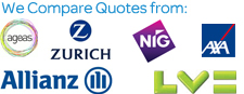 Compare quotes from zurich, allianz, aviva, axa, liverpool victoria, agaes, MMA